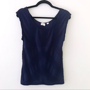 ANTHROPOLOGIE Navy Blue Tank Top